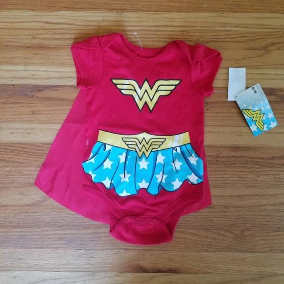 c156714667089 DC Comics One Pieces | Nwt Girls 69 Month Wonderwoman Bodysuit Cape ...